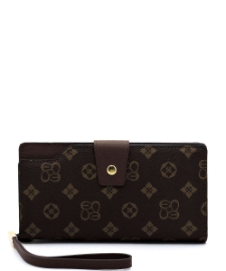 Monogram Clutch Wallet  CS015 BROWN