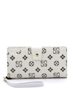 Monogram Clutch Wallet  CS015 IVORY