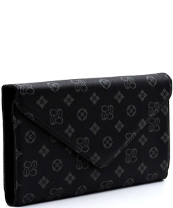 Monogrammed Envelope Clutch CS2500 BLACK