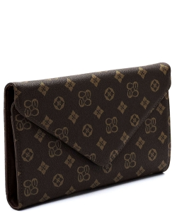 Monogrammed Envelope Clutch CS2500 BROWN/TAN