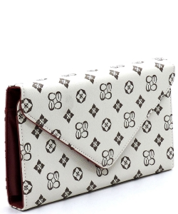 Monogrammed Envelope Clutch CS2500 IVORY/RED