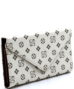 Monogrammed Envelope Clutch CS2500 IVORY/TAN