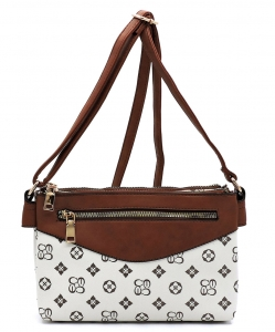 Monogrammed Multi Compartment Crossbody Bag CS2732 IVORYTAN
