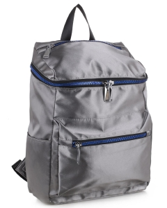 Basic Fashion Color Backpack CS3133 DARK SILVER