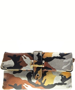 Camouflage Clutch Bag BROWN GOLD