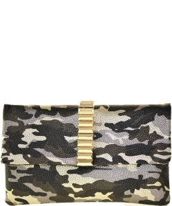 Camouflage Clutch Bag BLACK GOLD