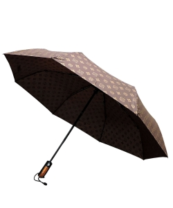 Monogram Printed Auto Umbrella CU503 BROWN