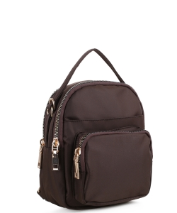 Cute Fashion Trendy Backpack CW-3116 Coffee
