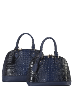 Designer 2 in 1 Croc Handbag Set CY2020 BLUE
