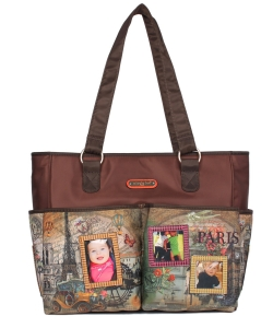 Nicole Lee Diaper Bag With Changing Mat and Photograph Frame DIA12202 Barroquial