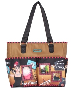 Nicole Lee Diaper Bag With Changing Mat and Photograph Frame DIA12202 Hollywood Star
