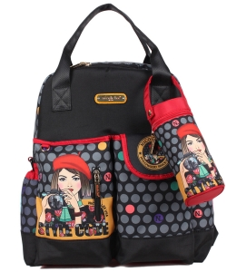 Nicole Lee Diaper Bag With Backpack and Shoulder Straps DIA12203 Clara Loves Photo