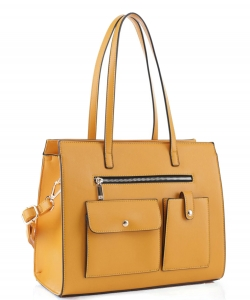 Fashion Faux Leather Handbag ES-3848 YELLOW