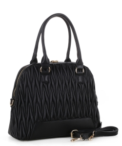 Chevron Quilted Dome Satchel ES3351