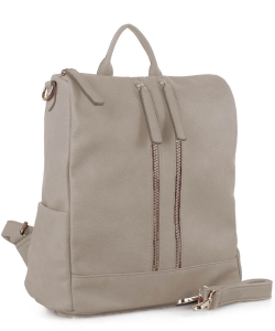 Faux Leather Fashion Backpack ES3374 NUDE