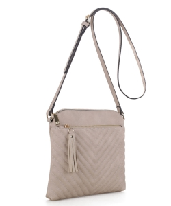 Chevron Quilted Crossbody Bag EW2353 NUDE