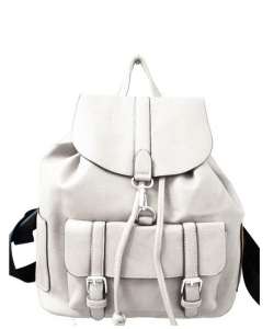 Fashion Backpack F1395 WHITE