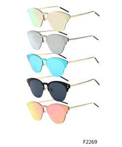 New Fashion Designer Cat Eye Sunglasses – f2269 – 12 pcs/pack