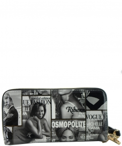 Magazine Fashion wallets F7288 black