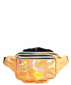 Metallic Hologram Fanny Pack Waist Bag FA0006 GOLD