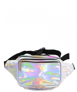 Metallic Hologram Fanny Pack Waist Bag FA0006 Silver