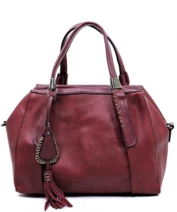 Fashion Satchel FBL005 BURGANDY