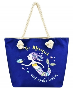 Designer Mermaid Canvas Tote Bag FC00631