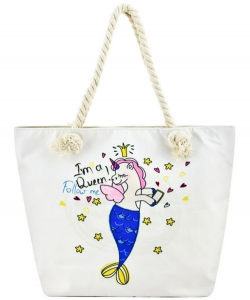 Designer Mermaid Canvas Tote Bag FC00635