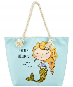 Designer Mermaid Canvas Tote Bag FC00636