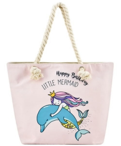 Designer Mermaid Canvas Tote Bag FC00637