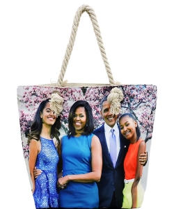 Michelle Obama Magazine Printed Tote Bag FC0077-1