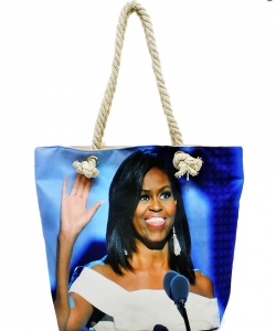Michelle Obama Magazine Printed Tote Bag FC0077-3