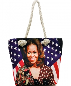 Michelle Obama Magazine Printed Tote Bag FC0077-4
