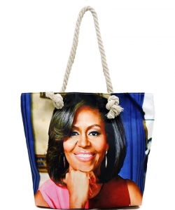 Michelle Obama Magazine Printed Tote Bag FC0077-5
