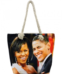 Michelle Obama Magazine Printed Tote Bag FC0077-6