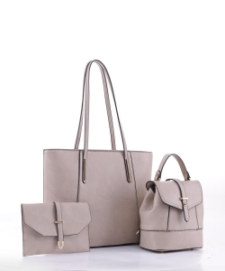 3 in 1 Tall Fashion Tote Set FC19184 TAUPE