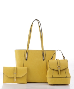 3 in 1 Tall Fashion Tote Set FC19184 YELLOW