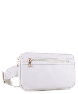 Leather Fanny Packs FC-19515 LGREY