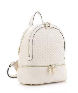 Fashion Woven Backpack FC19770 BEIGE
