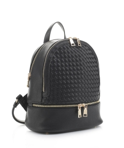 Fashion Woven Backpack FC19770 BLACK