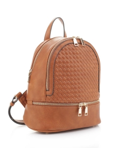 Fashion Woven Backpack FC19770 BROWN
