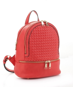 Fashion Woven Backpack FC19770 CORAL