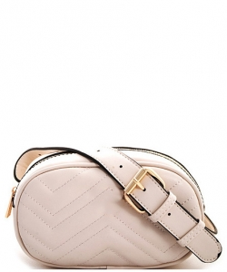 Designer Trendy Cross Body Waist Bag FY517 BIEGE