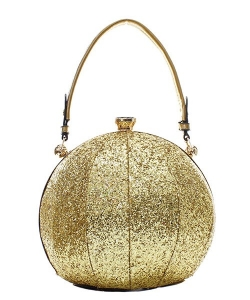 Fashion Faux Leather Glitter Handbag GB-701 GOLD