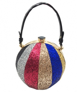 Fashion Faux Leather Glitter Handbag GB-701 MULTI1