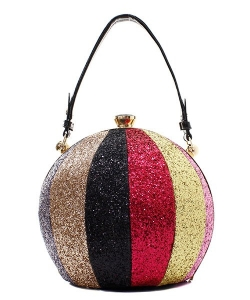 Fashion Faux Leather Glitter Handbag GB-701 MULTI2