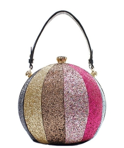 Fashion Faux Leather Glitter Handbag GB-701 MULTI3