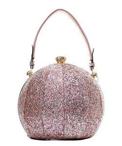 Fashion Faux Leather Glitter Handbag GB-701 SILVER/MT