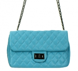 Faux Leather Clutch Purse GCB991005 Light Blue