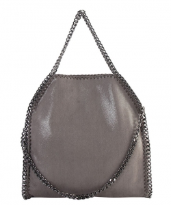 Fashion Chained Designer Tote Bag with Chain GF-6520 DGRAY